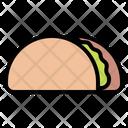 Taco Warp Tortilla Icon
