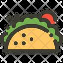 Taco Tortilla Mexican Icon