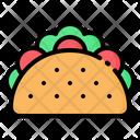 Taco Tortilla Sandwich Icon