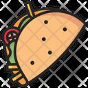 Taco Mexican Food Icon
