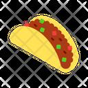 Taco Fastfood Food Icon