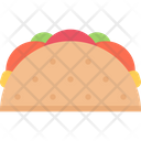 Taco Fast Food Mexican Icon