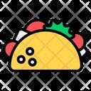 Taco Burrito Veggies Wrap Icon
