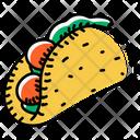Chicken Taco Taco Tortilla Icon