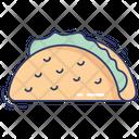 Taco Sandwich Lunch Icon