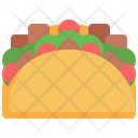 Taco Sandwich Salad Icon