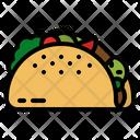 Taco Snack Mexican Icon