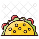 Tacos Tortilla Sandwich Mexican Dish Icon