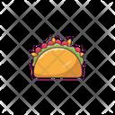 Shawarma Fastfood Roll Icon