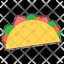 Tacos Food Snack Icon