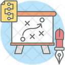 Actical Planning Game Plan Business Plan Icon