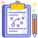 Tactical Planning Game Plan Business Plan Icon
