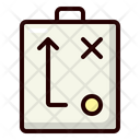 Tactical Sketch Strategy Planning Icon