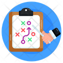 Business Tactics Tactical Document Business Strategy Icon