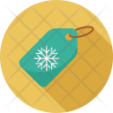 Tag Label Snowflake Icon