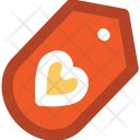 Tag Heart Sign Icon