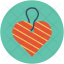 Heart Shaped Tag Icon