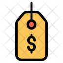 Dollar Label Tag Icon