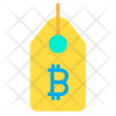 Bitcoin Tag Label Price Tag Icon