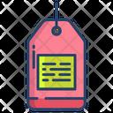 Kartboard Tag Badge Icon