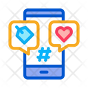 Label Phone Heart Icon