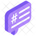 Tag Message Hash Tag Message Chat Icon