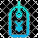 Yen Label Tag Icon