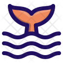 Tail Fish Whale Icon