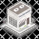 Building Architecture Tailor Shop Icon