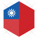 Taiwan Flag Country Icon