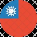 Taiwan Flag World Icon
