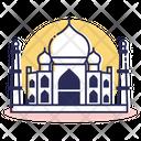 Travel Destination Taj Mahal Icon