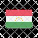 Tajikistan Flag Country Icon