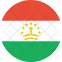 Tajikistan Flag Country Icon