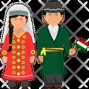 Tajikistan Dress Tajikistan Apparel Tajikistan Outfit Icon