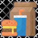 Take Away Burger Drink Icon