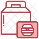 Take Away Burger Food Delivery Icon
