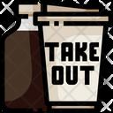 Take Away Cofffee Take Away Take Out Icon