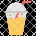 Mango Smoothie Glass Icon