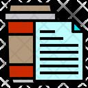 File Paper Coffee Icon