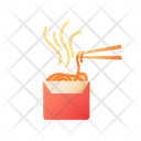 Wok Noodles Chinese Icon