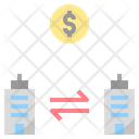 Horizontal Merger Business Icon
