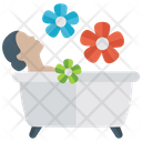 Taking Bath Body Shower Relaxation Icon