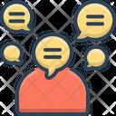 Talkative Chatty Garrulous Icon