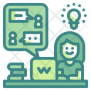 Talking Chat Message Icon