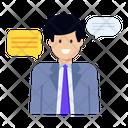 Self Talk Personal Chat Talking Icon