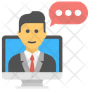 Client Chat Customer Representative Chat Icon
