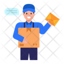 Talking Delivery Man Icon