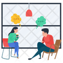 Talking Each Other Gossips Consultation Icon