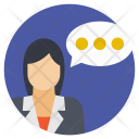 Talking Person Talk Icon